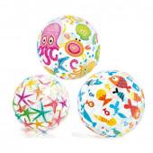 Мяч надувной детский от 3 лет Intex 59040 дизайн в ассортименте