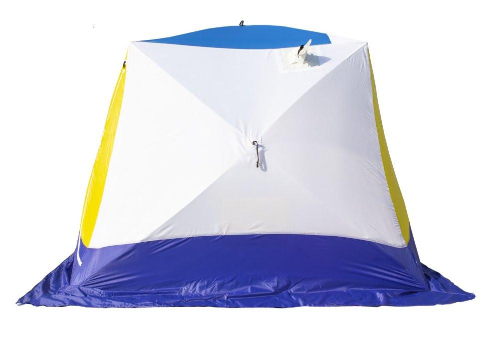 палатка для зимней рыбалки куб трехслойная