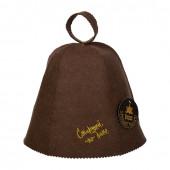 Шапка для бани Банные Штучки Старший по бане (войлок) коричневая 41414
