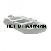 Лодка ПВХ под мотор, с надувным дном Тонар Шкипер А280НТ (зеленая)