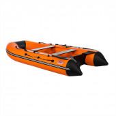 Лодка ПВХ под мотор Тонар Алтай 340L (оранжево-черная)