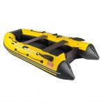 Лодка ПВХ под мотор, с надувным дном Тонар Алтай А320 (желто-черная)