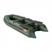 Лодка ПВХ под мотор, с надувным дном Тонар Алтай А320 (зеленая)