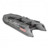 Лодка ПВХ под мотор, с надувным дном Тонар Алтай А360 (серая)
