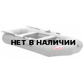 Лодка ПВХ с надувным дном Тонар Шкипер А260 (серая)