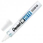 Маркер краска лаковый Pentel White линия 3,9 мм белый X100W-M