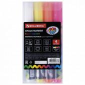 Маркеры меловые для стекла Brauberg Pop-Art линия 5 мм 4 цвета 151535