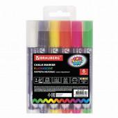 Маркеры меловые для стекла Brauberg Pop-Art линия 5 мм 6 цветов 151536