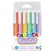 Набор текстовыделителей Carioca Pastel линия 1-5 мм 6 цветов 43033