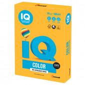 Бумага цветная для принтера IQ Сolor А4, 80 г/м2, 500 листов, оранжевая, NEOOR