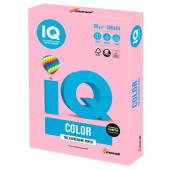 Бумага цветная для принтера IQ Сolor А4, 80 г/м2, 500 листов, розовый фламинго, OPI74