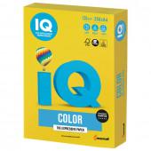 Бумага цветная для принтера IQ Сolor, А4, 120 г/м2, 250 листов, ярко-желтая, IG50