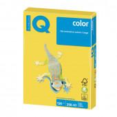 Бумага цветная для принтера IQ Сolor А3, 120 г/м2, 250 листов, канареечно-желтая, CY39