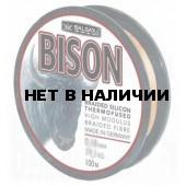 Рыболовная леска плетеная Bison 100м 0,12 (12,9 кг, черная)