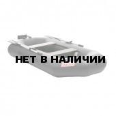 Лодка ПВХ под мотор, с надувным дном Тонар Шкипер А260нт (серая)