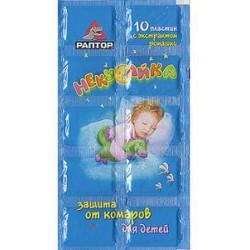 Пластины от комаров для детей РАПТОР Некусайка D9616M