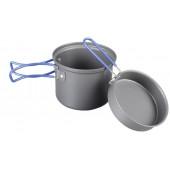 Котелок походный алюминиевый с крышкой-сковородой Tramp 1л TRC-039