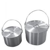 Набор алюминиевых походных котелков с крышкой Tramp 4,8л+9л TRC-085