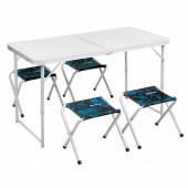 Набор складной мебели из алюминия Nisus Shark N-FS-21407+21124AS