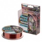 Леска Akkoi Mask Feeder 0,376мм 150м Dark Brown MFE150/0.376