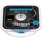 Леска Premier Fishing Monopower Match 0,16мм 100м Blue Nylon PR-MM-B-016-100