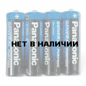 Батарейки солевые Panasonic R6 (AA) 4 шт (316)