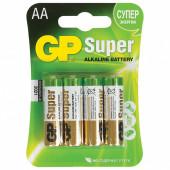 Батарейки алкалиновые GP Super LR06 (AA) 4 шт