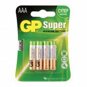 Батарейки алкалиновые GP Super LR03 (AAA) 4 шт 24A-2CR4