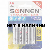 Батарейки алкалиновые Sonnen Alkaline LR6 (АА) 4 шт 451085
