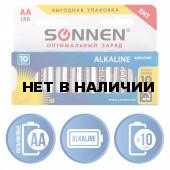Батарейки алкалиновые Sonnen Alkaline LR6 (АА) 10 шт 451086