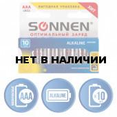 Батарейки алкалиновые Sonnen Alkaline LR03 (AAA) 10 шт 451089