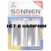 Батарейки алкалиновые Sonnen Alkaline LR20 (D) 2 шт 451091