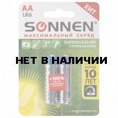 Батарейки алкалиновые Sonnen Super Alkaline LR6 (АА) 2 шт 451093