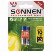Батарейки алкалиновые Sonnen Super Alkaline LR03 (AAA) 2 шт 451095