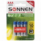 Батарейки алкалиновые Sonnen Super Alkaline LR03 (AAA) 4 шт 451096