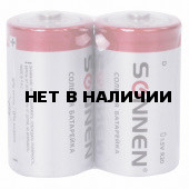 Батарейки солевые Sonnen R20 (D) 2 шт 451100