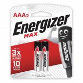 Батарейки алкалиновые Energizer Max LR03 (AAA) 2 шт E300157203