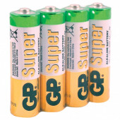 Батарейки алкалиновые GP Super LR06 (AA) 4 шт 15ARS-2SB4