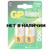 Батарейки алкалиновые GP Super LR14 (С) 2 шт 14A-2CR2