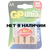 Батарейки алкалиновые GP Ultra Plus LR06 (AA) 4 шт 15AUP-2CR4