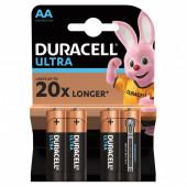 Батарейки алкалиновые Duracell Ultra Power LR06 (AA) 4 шт