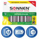 Батарейки алкалиновые Sonnen Super Alkaline LR06 (АА) 10 шт 454231