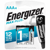 Батарейки алкалиновые Energizer Max Plus LR03 (AAA) 4 шт E301321701