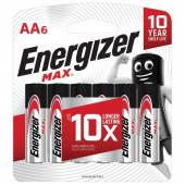 Батарейки алкалиновые Energizer Max LR06 (AA) 6 шт E301533801