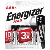 Батарейки алкалиновые Energizer Max LR03 (AAA) 6 шт E301532701