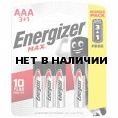 Батарейки алкалиновые Energizer Max Промо 3+1, LR03 (AAA) 4 шт E300248501S