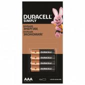 Батарейки алкалиновые Duracell Simply LR03 (ААА) 4 шт 5009140