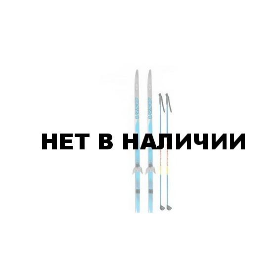 Лыжный комплект VISU (лыжи, палки, креплен. 75мм) 200 см