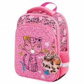 Ранец для девочек Brauberg Quadro Pink leopard 17 л 229950