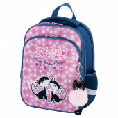 Ранец для девочек Brauberg Quadro Friendly kittens 17 л 229952